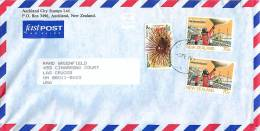 70 C Antarctic Research X 2, Sea Urchin Health Stamp On Air Letter To USA - Covers & Documents