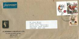 $1.20 Cows With Attached Year Of The Ox LLabel, 60 C Maori Leader  On Air Letter To UK - Covers & Documents