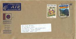 $1.30  White River Rafting, 70 C Milford Track  On Air Letter To UK - Covers & Documents