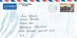 $1.80 Tauranga Harbour  Single   On Air Letter To UK - Covers & Documents