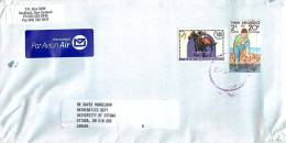 $1.80 Racehorse, 20 C Fishing Health Stamp    On Air Letter To Canada - Covers & Documents