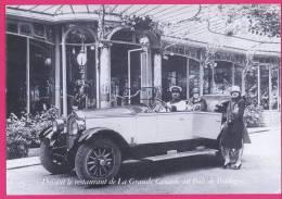 062 - AUTOMOBILE -  Devant Le Restaurant De La Grande Cascade Au Bois De Boulogne - Buick 6 Cyl Type 17 HP Torpédo 5 Pl - Taxi & Carrozzelle