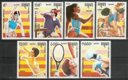 Mua419 SPORT OLYMPISCHE SPELEN TENNIS BADMINTON BOXING RUNNING WRESTLING OLYMPIC GAMES BARCELONA CAMBODGE 1991 PF/MNH - Zomer 1992: Barcelona