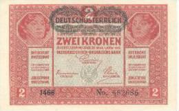 Billete Imperio Austro-Húngaro. 2 K. 1917. - Autriche