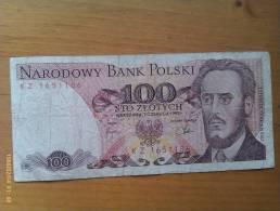 Billete Polonia. 100 Zlotich. 1982. - Polonia