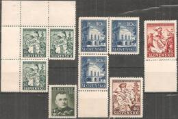 Slovacchia 1939 Nuovo** - Yv.44 +47x3 +51/52 +53x3 - Nuovi