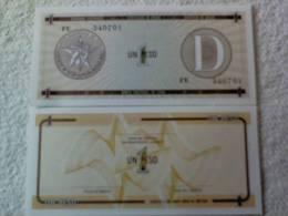 Billete Cuba. 1 Peso. Serie D. Certificado De Divisa. Banco Nacional De Cuba. - Cuba