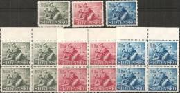 Slovacchia 1941 Nuovo** - Yv.58/60  Q+1 - Slovacchia