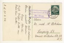 DORNREICHENBACH Bhf.  über WURZEN - 1934 ,  Wermsdorfer Wald  - Poststellen-Stempel - Deutschland