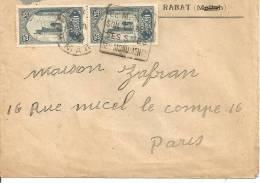 N°Y&T 70X2   RABAT     Vers  PARIS  Le   1930 - Marruecos (1891-1956)