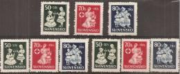 Slovacchia 1943 Nuovo** - Yv.83/85 X3 - Slovacchia