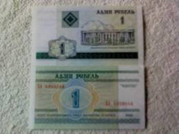 Billete  Bielorrusia. 1 Rublo. 2000. - Belarus