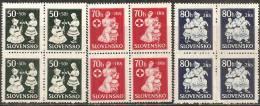 Slovacchia 1943 Nuovo** - Yv.83/85 Q - Ungebraucht