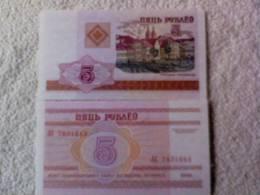 Billete  Bielorrusia. 5 Rublos. 2000. - Belarus