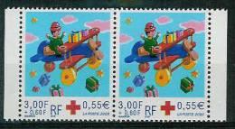 3362a** Croix Rouge En Paire - France