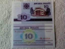 Billete  Bielorrusia. 10 Rublos. 2000. - Belarus