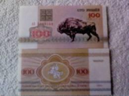 Billete  Bielorrusia. 100 Rublos. 1992. - Belarus