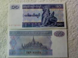 Billete  Birmania. 10 Kyats. 1996. - Myanmar