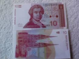 Billete  Croacia. 10 Dinares. 1991. - Croacia