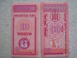 Billete Mongolia. 10 Mongo. 1993. - Mongolia