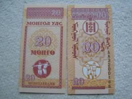 Billete Mongolia. 20 Mongo. 1993. - Mongolia