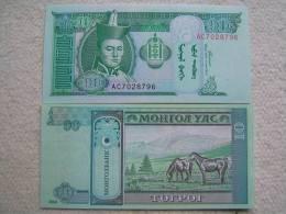 Billete Mongolia. 10 Tugrik. 2002. - Mongolia