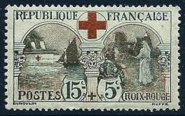"""FR YT 156 """" Au Profit De La Croix-Rouge 15c. +5c. Noir Et Rouge """" 1918 Neuf* - France"""