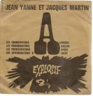 """TITRE : 45 Tours EP - JEAN YANNE Et JACQUES MARTIN - BARCLAY 71022 - """" LES EMANCIPATIOND D'ALPHONSE """" + 3 - Vinylplaten"""
