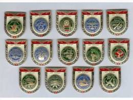 USSR 1985 SOVIET RUSSIA 14 ARMY PINS COMMEMORATING 40 YEARS OF VICTORY - Armee