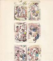 Vieux Papiers - Image - Feuille Germaine Bouret -  Galerie De Diverses Cpa - Vieux Papiers
