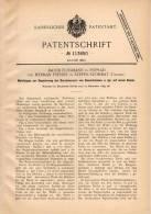 Original Patentschrift - H. Preiser In Poprád Und Szepes - Szombat , Ungarn , 1899 , Meßkluppe Für Baumstämme , Forst !! - Werkzeuge
