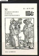 POLAND EX LIBRIS 1980 XI WARSAW ANTIQUES ANTIQUITIES AUCTION MERMAID BOOKPLATE - Bookplates