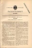 Original Patentschrift - J.W.F. Hofmann In Hof , Bayern , 1889 , Bohrwerkzeug , Bohrer !!! - Werkzeuge