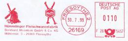 Freistempel 743 Mühle Fleischwarenfabrik - Affrancature Meccaniche Rosse (EMA)