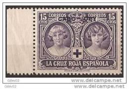 CJ30-LA031TAN. Marruecos .Maroc.Marocco.CABO JUBY ESPAÑOL CRUZ ROJA 1926 (Ed 30**) Sin CharnelaLUJO.BORDE DE HOJA - 1889-1931 Royaume: Alphonse XIII