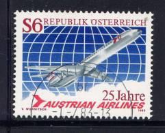 """AUTRICHE - N° 1563° - 25è ANNIVERSAIRE DE LA Cie """"AUSTRIAN AIRLINES"""" - 1945-.... 2ème République"""
