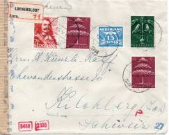 PAYS BAS LETTRE RECOMMANDEE CENSUREE POUR LA SUISSE 1944 - Postal History