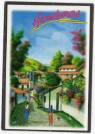 31718    Honduras,  Typical  Scene  By  National  Artist  Pedro  Triminio,  NV  (scritta) - Honduras