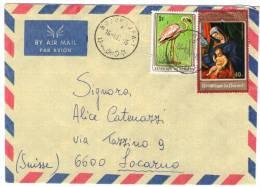 BURUNDI - AIR MAIL COVER TO SWITZERLAND 1980 / THEMATIC STAMP-BIRD-ART - 1980-89: Oblitérés