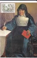 Carte-Maximum FRANCE N° Yvert  2150 (Anne Marie JAVOUHEY) Obl Sp Ill St Paul (Réunion), éd Apa-Poux  (Tableau Entier) - Maximum Cards