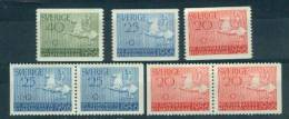 Zweden Michelno. 413- 415 7 Waarden Postfris ** Olympiche Spelen 1956 (6465) - Suecia