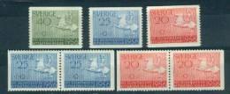 Zweden Michelno. 413- 415 7 Waarden Postfris ** Olympiche Spelen 1956 (6465) - Unused Stamps
