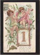 * Fantaisie Kitsch - Gaufrage - Angelots - Premier Avril - MSIB 13560 - Fantaisies