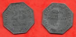 Chambre De Commerce Région Provençale - 25 Centimes - Monétaires / De Nécessité