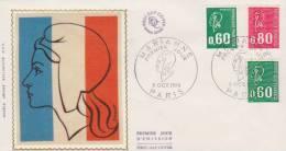 FDC France 1er Jour 1974 N° 1814 1815 Et 1816 Cote 6 Euros - 1970-1979