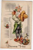 Illustrateur Bonne Fête - Enfant Jardinier - Imprimée En Belgique - Ilustradores & Fotógrafos