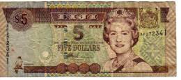 BILLET 5 DOLLARS   Banque De FIJI  - Au Dos Aéroport International Nadi - Fidji