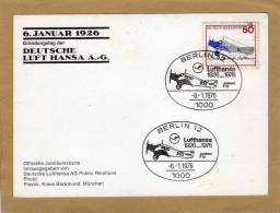 Carte Postale Deutsche Lufthansa Berlin 1976 - Aviation