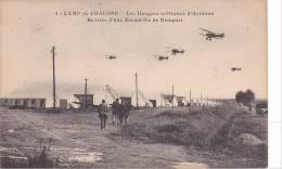 20819 Camp De CHALONS - Hangars Militaires Aviation - Rentrée Escadrille Nieuport . 1éd ? Mourmelon