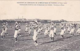 20821 NANTES (france 44)-Souvenir Concours Gymnastique (Août 1909) - Exercice Boxe -patronages  Sport